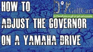 7. How to Adjust Governor on Yamaha G29 Drive Gas Golf Cart | Speed Increase