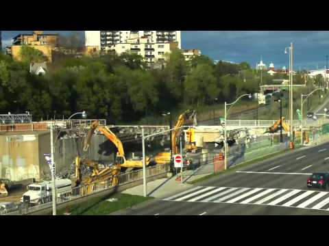 Dowling Avenue bridge demolition video
