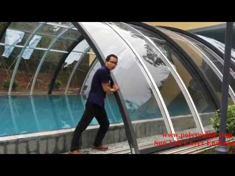 SUN LIFE retractable swimming pool cover enclosure