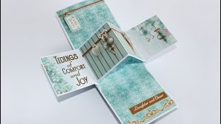 This is a short film to show a pop up panel card created with the Christmas Wishes collection from Kaisercraft.