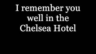 Lana Del Rey - Chelsea Hotel No 2 LYRICS VIDEO