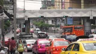 Pratunam Market  Area Bangkok City Traffic Thailand.mkv