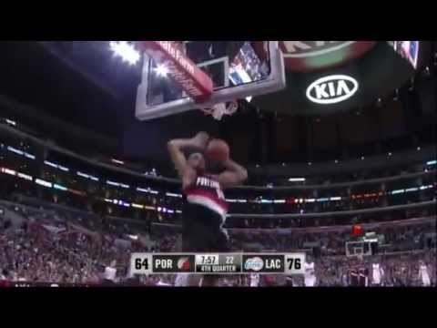 Nicolas Batum steals and dunks against Clippers