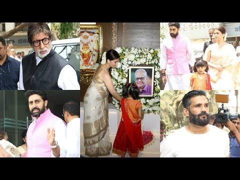 Suniel Shetty & Bachchan Family Arrive To Pay Homage To Krishnaraj Rai