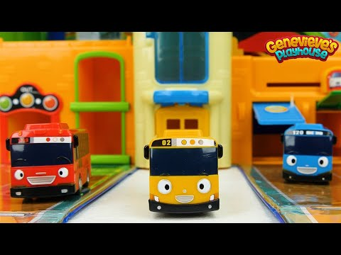 Best Learning Colors Video for Kids and Toddlers! Tayo the Little Bus Toys!
