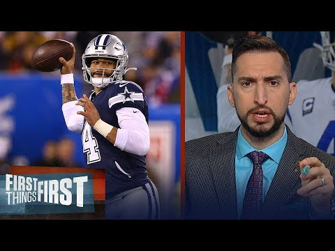 Nick Wright gives an edge to Dak over Kirk Cousins in Cowboys vs Vikings | NFL | FIRST THINGS FIRST