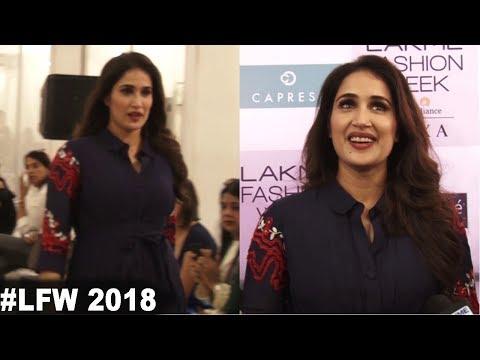 Sagarika Ghatge Showstopper For Designer At Lakme Fashion Week 2018