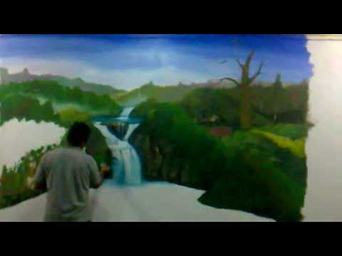 Mural pared videos videos relacionados con mural pared for Murales de pared de paisajes