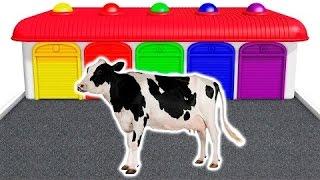 Aprender los colores con Vaca y animales domesticos en español para niños | Animacion | 3D