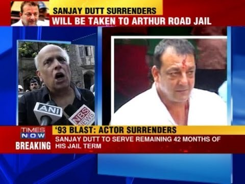 sanjay - Bollywood actor Sanjay Dutt on Thursday (May 16) surrendered before the designated TADA court in Mumbai to serve his three-and-a-half year sentence in the 19...