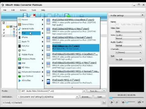 How to use Xilisoft Converter to change a movie file format