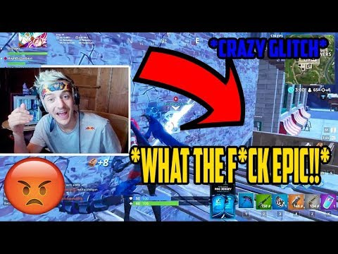 NINJA Reacts to *DOUBLE WALL* *GLITCH*. Fortnite funny moments episode (14)
