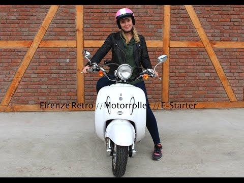 Firenze Retro Roller // Motorroller 50 ccm // Motorroller im Test // Alpha Mobil