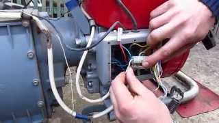 Как подключить фару к мотобоку Мотор Сич?
