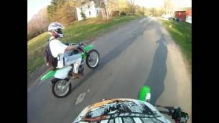 8. Drag Race KLX 110 (Piped and Jetted) VS KLX 125L (Stock)