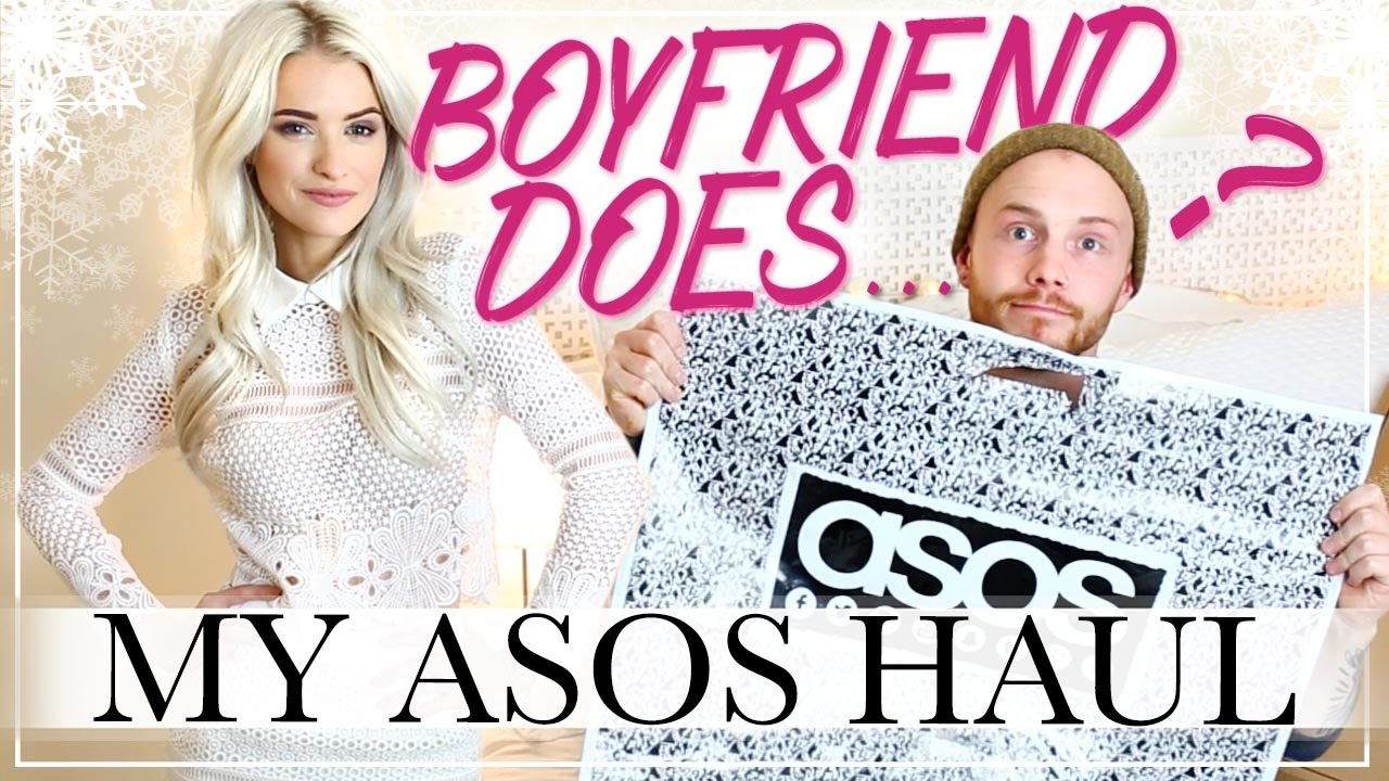 BOYFRIEND DOES MY ASOS HAUL AND A CHRISTMAS GIVEAWAY