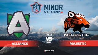 Alliance vs Majestic Esports (карта 1), OGA Dota PIT Minor 2019, | Групповой этап