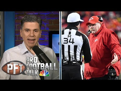 Video: Chiefs' Andy Reid unhappy with officiating vs. Patriots | Pro Football Talk | NBC Sports