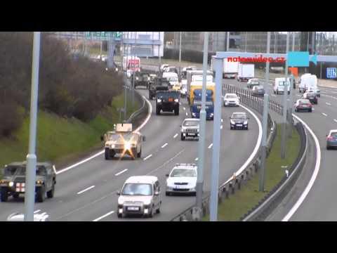 Příjezd NATOkonvoje do Prahy