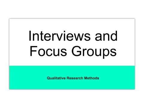 Communication Research Methods - Interviewing