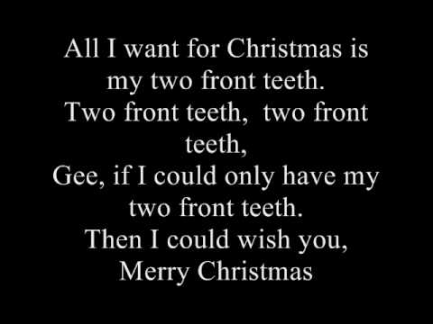 All I Want for Christmas Is My Two Front Teeth (Song) by Nat King Cole