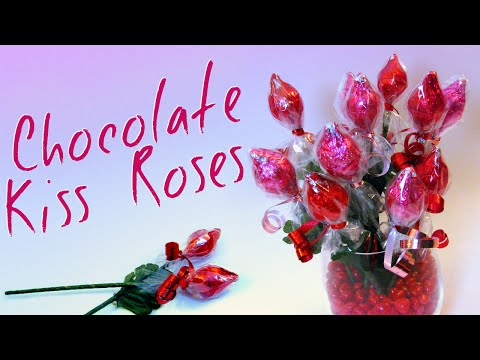 Mothers Day gifts - Why buy boring roses for Valentine's day, when you can make these cute little chocolate Kiss roses !?!?! This is a very inexpensive craft that you can give t...