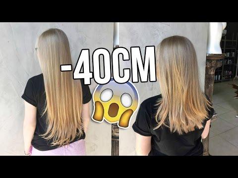 TUDO sobre meu NOVO CORTE de cabelo (-40cm!!!)