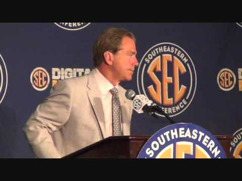 0 Complete Video Of Nick Saban at SEC Media Days