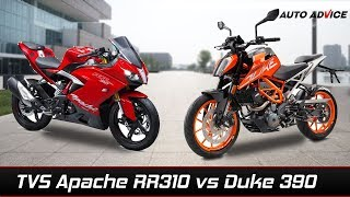 Video TVS apache RR 310 vs KTM Duke 390 MP3, 3GP, MP4, WEBM, AVI, FLV Desember 2017