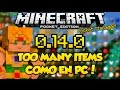 Minecraft PE 0.14.0 Mods - Too Many Items Mod como en PC! - ACTUALIZADO - Pocket Manager 1.1