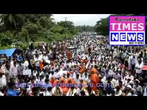 Protest Meet against Netravathi Diversion (Yettinahole)at Uppingady