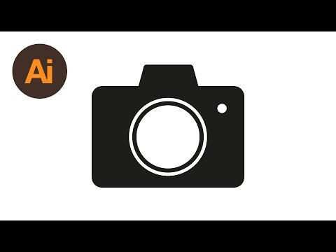 Learn How To Draw a Camera Icon in Adobe Illustrator | Dansky