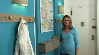 How to decorate a small apartment and create an entryway - Season 1 - Ep 12 - YouTube
