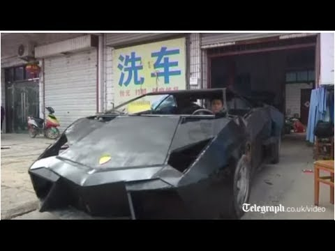 His name is Wang Jian, a mechanic from China. He is a sport car enthusiast since young, Lamborghini is always his dream car but he couldn't afford it, so he decided to   build his own Lamborghini.  He spent about 6,000.00 CNY, around 965 USD on his replica of a Lamborghini Reventon