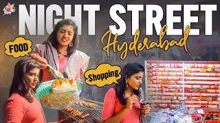 Night Street Food in Hyderabad || Night Market || Night Shopping Vlog || Shiva Jyothi