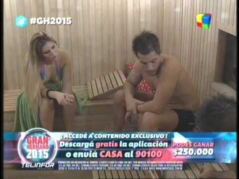 Fernando Francisco y Romina complot en el sauna GH 2015 #GH2015 #GranHermano