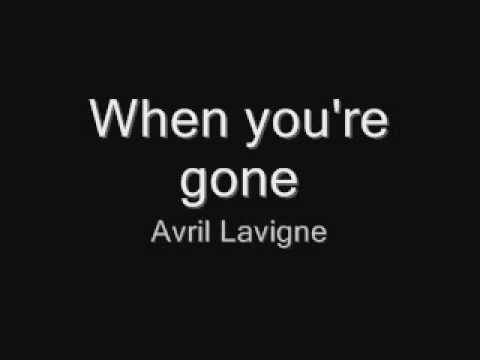 When you're gone - Avril Lavigne [acoustic+lyrics]