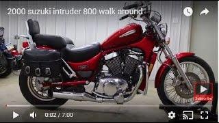 6. 2000 suzuki intruder 800 walk around
