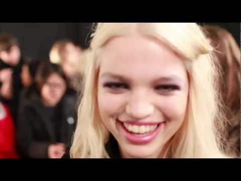 Daphne Groeneveld - Interview with model Daphne Groeneveld, backstage at Jill Stuart, during Mercedes Benz Fashion week, February 2012, New York. ©Stefania Curto 2012 www.fashio...