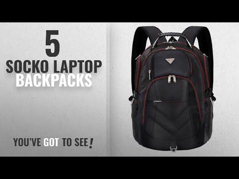 Socko Laptop Backpacks [2018]: Laptop Backpack 18.4 Inch,SOCKO Nylon Water-Resistant Durable Travel