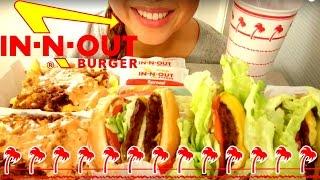 IN-N-OUT Burger MUKBANG 먹방 ASMR American Food Eating Show Eating Sounds