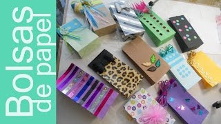 Como hacer BOLSAS de REGALO y PLUS How to Make Gift Bags and PLUS Tutorial Inerya viris