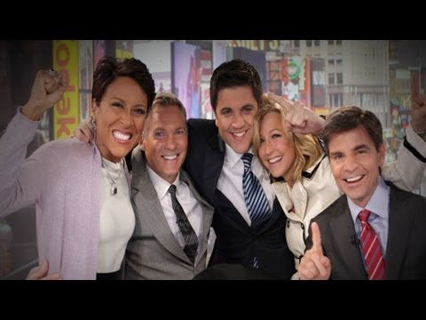 over - 'GMA' anchors take a fun stroll down memory lane through Sam's 25 years with ABC.