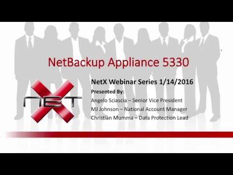 Image for NetX Webinar - NetBackup 5330 Appliance