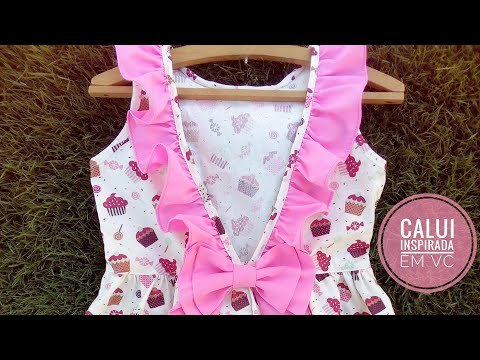 Vestido Infantil Do Zero #03 Costurando