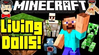 Minecraft LIVING CLAY DOLLS! Craft Mini Mobs to Fight&More!