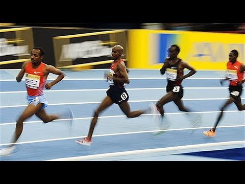 Mo Farah Vs Eliud Kipchoge At Two Mile Uk Indoor 2012