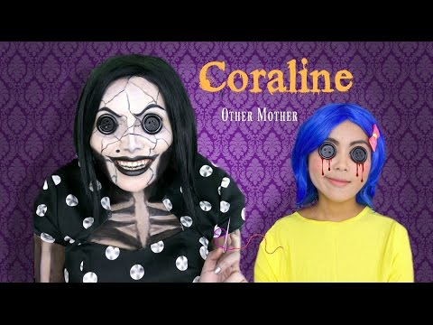 Coraline's Other Mother Makeup Tutorial