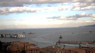 Costa Concordia disaster Timelapse - 14 gennaio 2012