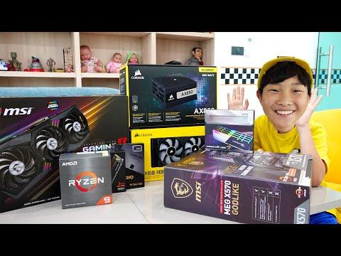 예준이와 아빠의  게이밍 컴퓨터 조립놀이 게임 플레이 Computer Assembly with Game Play